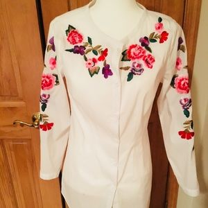 Buttoned Down Embroidered Tunic